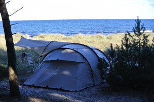 Mit eigene Zelt